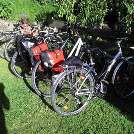Radfahrers`Rast.