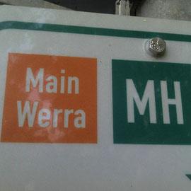 Man folgt dem Main-Werra-Weg bis Meiningen.
