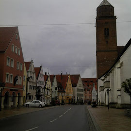 Das ansprechende Stadtbild von Donauwörth