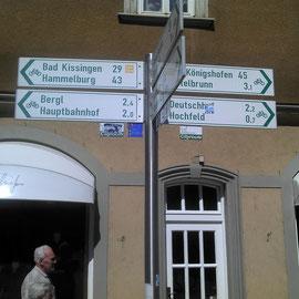 Schilderwald in Schweinfurt am Markt.