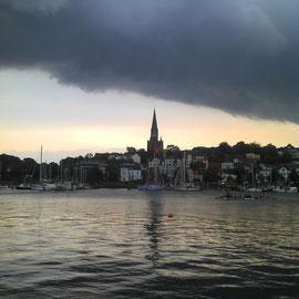 St. Jürgen, gesehen von der Hafenspitze