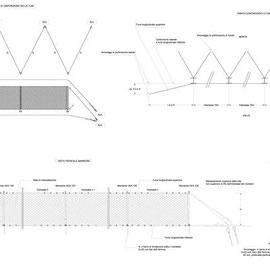 Completamento consolidamento costone roccioso collina Monserrato in Modica - Particolari esecutivi barriere paramassi