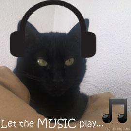 Put some low clasic or chill out music on... or try with some special music for cats.