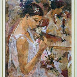 Pensieri allo Specchio - Mosaico creato con foglie e petali