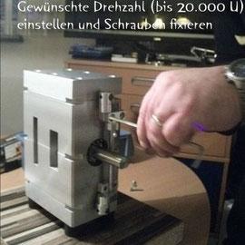 WilERK Prototyp Drehzahleinstellung
