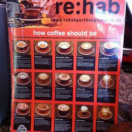 オーダーもしやすくこれだけ数多くの種類のコーヒーが楽しめるんだわさ。