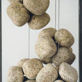 """""""leicht"""" - Steingehänge Granit/Stahl"""
