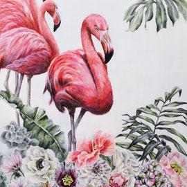 Pink Paradise -  70x50x4cm    Acryl auf Leinwand