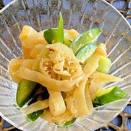 炒め胡瓜とくらげの冷菜