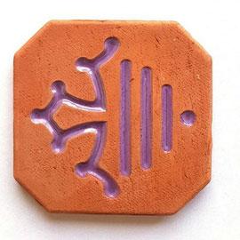 Magnet nouveau logo Région Occitanie diamètre 5 cm logo émaillé violet