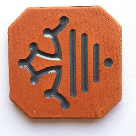Magnet nouveau logo Région Occitanie diamètre 5 cm logo émaillé gris