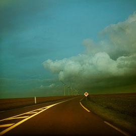 Landscape Photographie digital color Cotentin On the road again