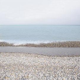 Dieppe,Digital color blue series  Sur la grève!