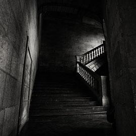 noir et blanc digital L'escalier l'alhambra