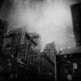 New york with Snow