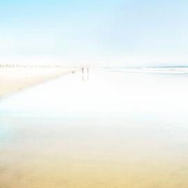 Santa monica beach Digital color blue series