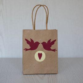 Geschenktüten für den Kindergeburtstag - Vögel mit Herz