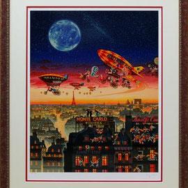 ヒロ・ヤマガタ シルクスクリーン1996年『フライ・ミー・トゥ・ザ・ムーン』128000円