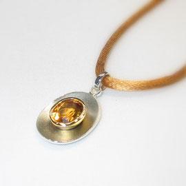 585er Gelbgold/925er Silber mit Citrin