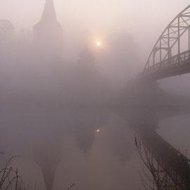 Dorfkirche - im Nebel