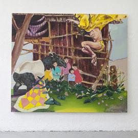 Oni, Öl auf Leinwand, 170 x 180 cm, 2014