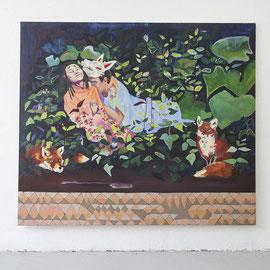 Suche nach den Himbeeren, Öl auf Leinwand, 180 x 200 cm, 2014