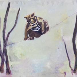 Wladimir, Bleistift und Öl auf Leinwand, , 160 x 210 cm, 2015