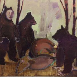 Vollendete Treibjagd, Öl auf Leinwand, 150 x 170 cm, 2015