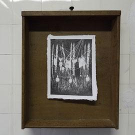 Begleiter I, Bleistift auf Papier in Schublade, 36 x 25cm, 2015-2016