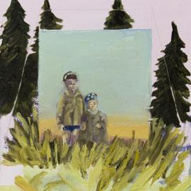 Familienportrait, Öl auf Leinwand, 40 x 30 cm, 2016