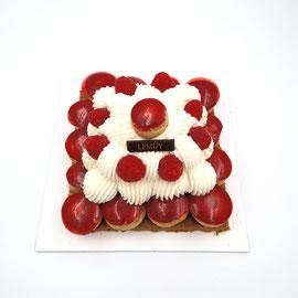 St Honoré : choux vanille-framboise