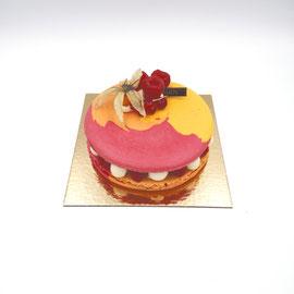 Paris-Metz : macaron mousseline bergamote et framboises