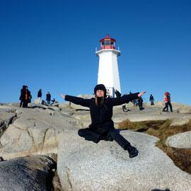 Peggy´s Cove bei Halifax mit dem berühmtesten Leuchttum Kanadas