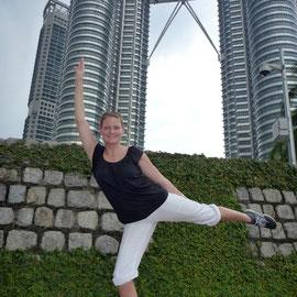 Kuala Lumpur, Malaysia, die berühmten Petronas Twin Towers, 452 m hoch