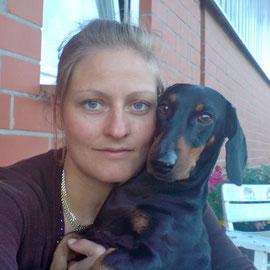 Annelie mit Michel, Juni 2010
