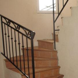 Escalier pour accéder à la deuxième chambre