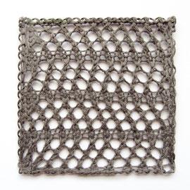 棒針編みのコースター
