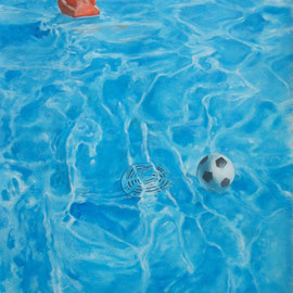 piscine huile sur carton 03.08.09