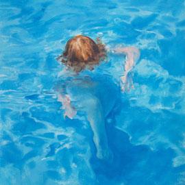 piscine huile sur carton 05.07.09