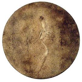Fósil, 2009, técnica mixta sobre lienzo, 50 cm