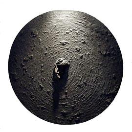 Cara dura, 2008, técnica mixta sobre lienzo, 50 cm