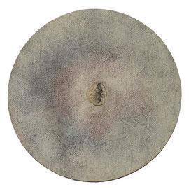 Meteorito, 2008, técnica mixta sobre lienzo, 40 cm