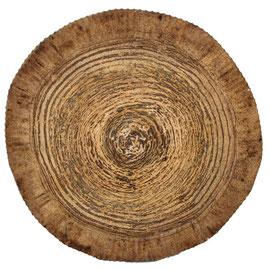 Madera redonda, 2006, técnica mixta sobre madera, 47 cm