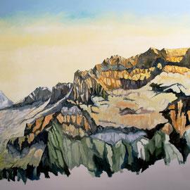 Gross Lohner, Adelboden 180 x 80 cm Öl auf Leinwand (verkauft)
