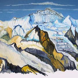 Jungfrau 100 x 80 cm Öl auf Leinwand