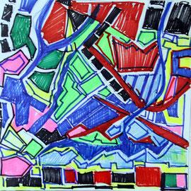 Vorstudie zu abstraktem Werk