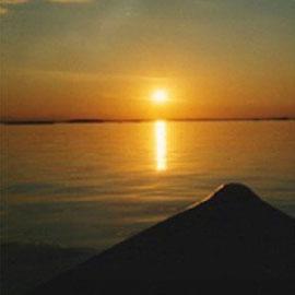 Beim Angeln auf dem großen See die Seele baumeln lassen.