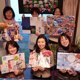 2013年1月13日 神奈川県・逗子「風の家」新年新月のアロマコラージュ