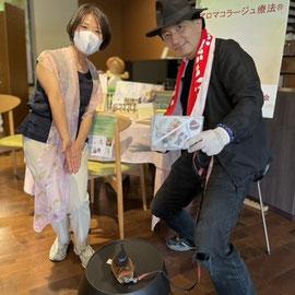 2021年7月3日 東京・広尾 聖心女子大学構内ラメンサジャスミンにて by鱒渕真希子