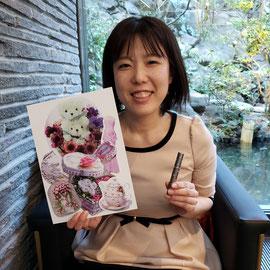 2019年2月25日(日)東京・目黒雅叙園にて。「約1カ月ぶりに体験しました。何かを実現させるためというより、香りにしてもコラージュにしても自分の心地よいものを作ることが何よりの癒しであり、明日からの活力になる気がしました。何かに没頭して向き合っている時、特に何かを作っている時ってわたしは好きです」